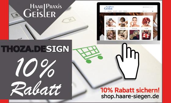 10% Gutschein im Webshop der Haar-Praxis Geisler